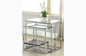 Vendi Black Nesting Table