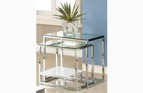 Vendi White Nesting Table
