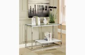 Vendi White Sofa Table