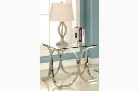 Luxa Chrome End Table