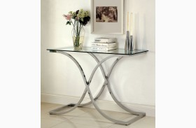 Luxa Chrome Sofa Table