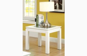 Venta White End Table