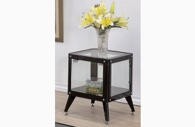 Kidder Black End Table