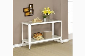 Vibber White Sofa Table