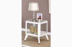 Kidder White End Table