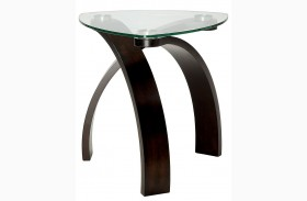 Nieve Dark Walnut End Table