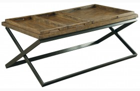 Mina Medium Weathered Oak Coffee Table