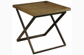 Mina Medium Weathered Oak End Table