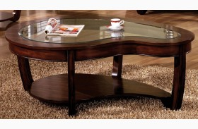 Crystal Falls Dark Cherry Coffee Table