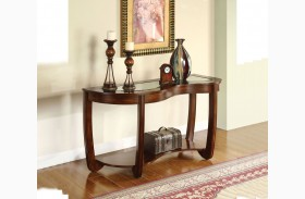 Crystal Falls Dark Cherry Sofa Table