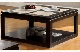 Verona Tile-Insert Square Cocktail Table