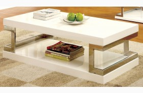 Meda White Coffee Table