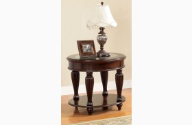 Centinel Dark Cherry End Table