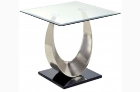 Orla II Silver and Black End Table