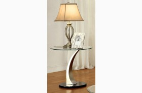 Valo Satin Plated End Table