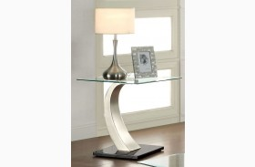Roxo Satin Plated End Table