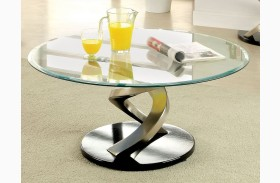 Nova Satin Plated Coffee Table
