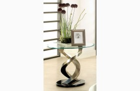 Nova Satin Plated End Table