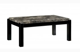 Gladstone Gray Marble Top Coffee Table