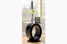 Lodia III Black End Table