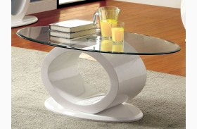 Lodia III White Coffee Table