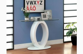 Lodia III White Sofa Table