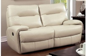 Binford Ivory Two Recliner Loveseat