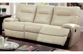 Binford Ivory Two Recliner Sofa