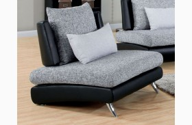 Saillon Fabric and Leatherette Chair