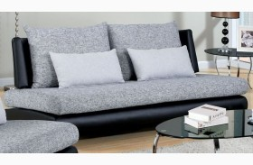 Saillon Fabric and Leatherette Sofa