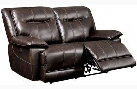 Dolton Brown Power Reclining Loveseat