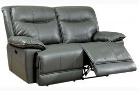 Dolton Gray Power Reclining Loveseat