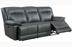 Dolton Gray Power Reclining Sofa