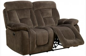 Bloomington Brown Power Reclining Loveseat