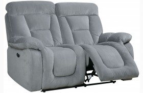 Bloomington Gray Power Reclining Loveseat