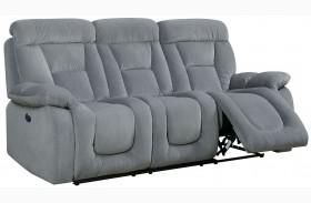 Bloomington Gray Power Reclining Sofa