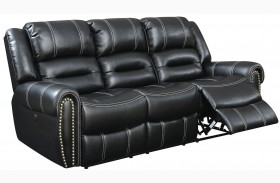 Frederick Black Power Reclining Sofa
