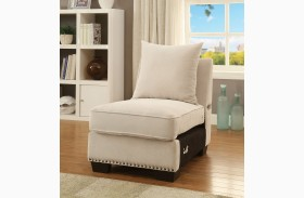 Skyler Ivory Armless Chair
