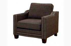 Kerian Brown Chenille Chair