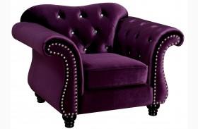 Jolanda Purple Flannelette Fabric Chair