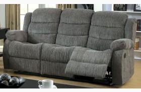 Millville Gray Chenille Reclining Sofa