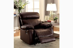 Myrtle Brown Glider Recliner