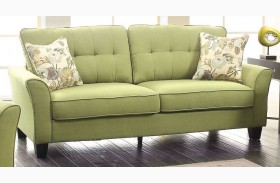 Claire Green Fabric Sofa
