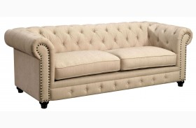 Stanford Ivory Fabric Sofa