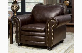 Benedict Dark Brown Leatherette Chair