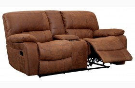 Wagner Leatherette Glider Reclining Loveseat