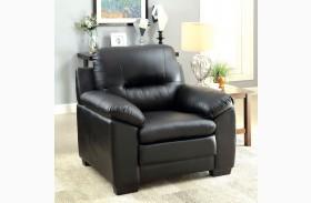 Parma Black Leatherette Chair