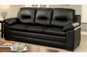 Parma Black Leatherette Sofa