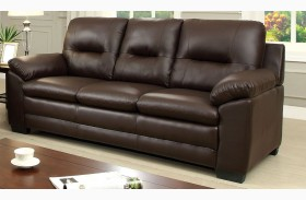 Parma Brown Leatherette Sofa