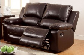 Davenport Top Grain Leather Match Reclining Loveseat
